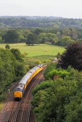 Surrey Hills, UK  |  2018 (keithwilde152) Tags: br class37 37421 37612 guildford surrey hills uk 2018 landscape countryside wey valley railway tracks test train diesel locomotives outdoor summer sun