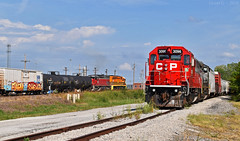 "MNA and CP Trains in Kansas City, MO (""Righteous"" Grant G.) Tags: cp canadian pacific kcs kansas city southern lines railroad railway mna missouri northern arkansas tner texas northeastern emd power train trains east eastbound union freight manifest yard job"