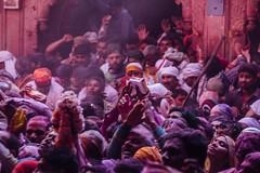 Chaos of Gulal Holi in Shri Banke Bihari Mandir (AdamCohn) Tags: abeer adamcohn bankebiharimandir hindu india shribankeybiharimandir vrindavan gulal holi pilgrim pilgrimage अबीर गुलाल होली