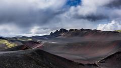 Fiery fields (danielfj91) Tags: iceland lava black ash tephra landscape dramatic nature mountains volcanic hekla valagjá gorge red clouds