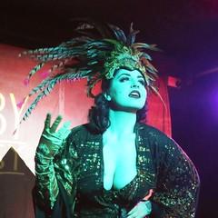 Burlesque Dancer (martincreates) Tags: mask spotlight dress stage scotland glasgow martinmcguire beautiful gloves performance dancer burlesque kim khaos