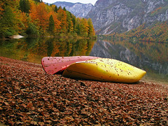 Tired (Vid Pogacnik) Tags: slovenija slovenia julianalps bohinj lake boat autumn