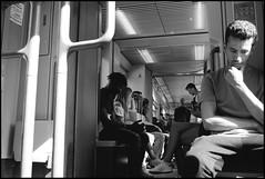 the Thinker (Plaisirs Graphic) Tags: think man tram sun