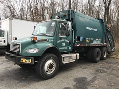 Upper Darby Township, PA 2005 Freightliner M2 106V Leach rear load packer - truck No. 19_2 (JMK40) Tags: freightliner m2 caterpillar cat c7 allison leach rearloader packer upperdarby pa township highwaydepartment government municipal trash refuse garbage truck