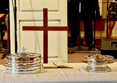 Worship Service with Pastor Rob Turner (9/2/2018)- Communion Table (nomad7674) Tags: 2018 20180902 september beacon hill church efca evangelical free monroe ct connecticut monroect worship service christian christianity hymn song sing singing singer music psalm singers choir praise communion eucharist lords supper last