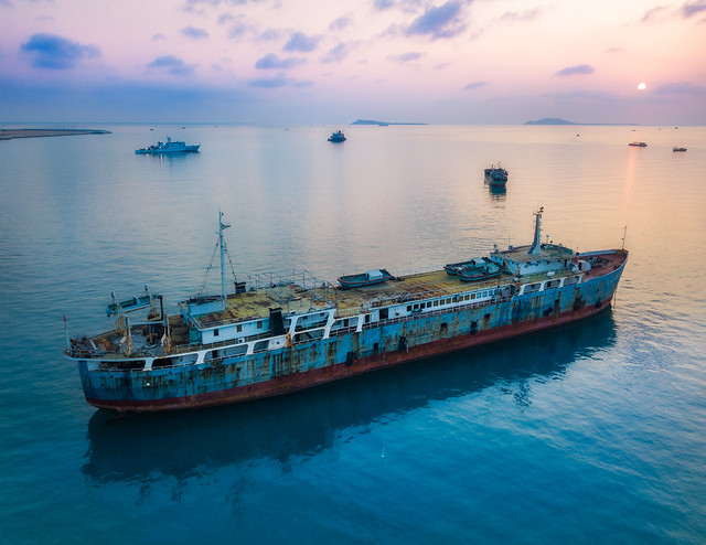 china sanya stuckincustomscom treyratcliff ship boat dji quadcopter mavic pro hdr sunset ocean sea