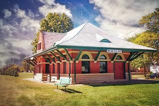 Wauseon  Ohio - Train Depot - The Lake Shore and Michigan Southern Railroad Depot