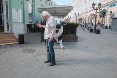cow (streetphotodog) Tags: cow street look colour color city streetphotography colourstreetphotography fujifilmx70 x70 moscow russia