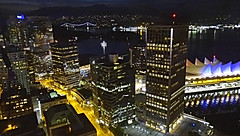Good Night, Vancouver! (greenie11*) Tags: greenie11 hana vancouver downtown canada lions gate bridge view night dark skyscrapers skyline darkness city bc british columbia world travel travelling beauty dreamy road yellow lights life windows sea water dock boulevard north america skyscraper window building buildings sky summer reflection blue uitzicht