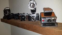 Memory Lane (Dan Panaitescu (light catcher)) Tags: contaflex nikonn2002 zenit polaroidlandcamera pentaxk1000 filmcameras memorylane oldbutnotforgotten