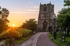 St Michael's Church, Alnwick (Matthew_Hartley) Tags: stmichaels church alnwick sunset sunburst evening light golden goldenhour northumberland uk britain sony a7 iii a7iii fullframe 2870 2870mm