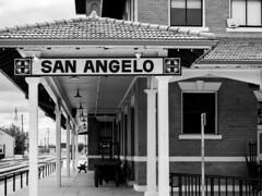 Santa Fe Depot, San Angelo, Texas (joncutrer) Tags: train santafedepot sanangelo texas santafe railroad railway historic museum bw monochrome blackandwhite