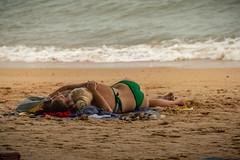 Couple in the Beach lying down, Pattaya, Thailand (CamelKW) Tags: thailand2018 pattaya chonburi thailand th