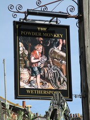 Exmouth Powder Monkey Pub Sign (Bridgemarker Tim) Tags: exmouth ex8 postboxes pubsigns