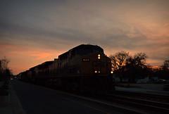 West Virginia Urbex (builder24car) Tags: railfanning benchingthefreights dusk sunset streetrunning csx csx127 aline fayettevillenorthcarolina