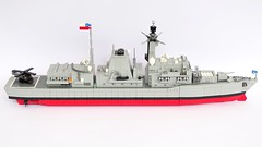Type 23 Frigate, 1:200 Scale, LEGO Model, Chilean Navy (LuisPG2015) Tags: