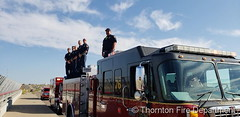 September 9, 2019 - The Thornton Fire Department takes part in Honor Flight. (Thornton Fire Department)