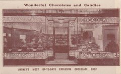 Advertisement postcard for California Chocolate Shop, 144 Pitt Street, Sydney, N.S.W. - early 1900s (Aussie~mobs) Tags: vintage australia sydney newsouthwales pittstreet advertisement advertisingpostcard californiachocolateshop pricelist aussiemobs