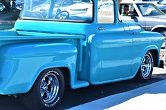 Old Chevy truck (thomasgorman1) Tags: chevy antique truck blue street streetphotos people az arizona parker cars parked parking