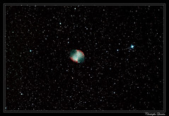 Nébuleuse de l'haltère (M27 - NGC 6853) (cquintin) Tags: messier 27 dumbell nebula haltère ngc6853 astrometrydotnet:id=nova2806406 astrometrydotnet:status=solved