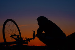 Cyclist (david.john.lee) Tags: cyclist bicycle sunset lakeburleygriffin
