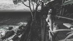 o r a n g e s   &   l e m o n s (Nicole Addy Cross) Tags: secondlife sl photography art digitalart foxcity pose bento mesh entwined quintessentiallyadorablyenglish brunette blackandwhite bw avatar avi virtualreality native soul beach tropical catwa catya letre osmia
