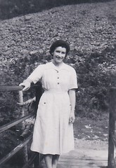 Dorothy at the Hunters Inn Heddons Mouth Valley Devon 1950 (Bury Gardener) Tags: bw blackandwhite oldies old snaps scans england uk britain 1950s 1950 monochrome mono devon