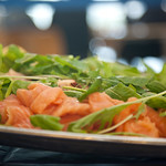 Freshly prepared salad on a plate thumbnail