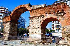 Thessaloniki: Arch of Galerius (ARKNTINA) Tags: thessaloniki thessalonikigreece greece gr18 europe eur18 random6 city building architecture urban archofgalerius arch ruins ancientruins romanruins