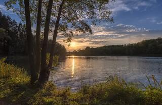 *Sonnenuntergang am Holzmaar*