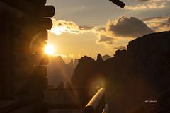 tramonto (clabattis) Tags: tramonto sunset catinaccio vajolet bergvagabundenhutte passoselle dolomiti