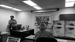 Toastmasters' Training (EmperorNorton47) Tags: irvine california photo digital summer interior toastmasters pathways banners lecture training blackandwhite monochrome classroom auctioncom foundersdistrict divisionf district1