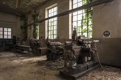 Workshop (Camera_Shy.) Tags: abandoned derelict disused urban exploration italy road trip cement factory machinery ue italia abandonado industrial urbex europe nikon d810