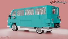 RAF-977DM (aaref1ev) Tags: lego digital designer ldd raf 977 dm im eraz 762 ambulance microbus ussr cars mecabricks blender render moc own creation soviet 6wide minifigure scale russian community
