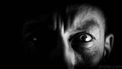 Self (#Weybridge Photographer) Tags: adobe lightroom canon eos dslr slr 5d mk ii mkii monochrome self selfie close up macro eye low key studio portrait black background