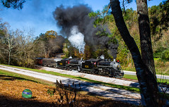 Southern Double Header (Kyle Yunker) Tags: tvrm tennessee valley railroad museum southern railway steam engine 280 rock spring