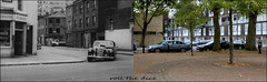 Lamble Street`1961-2018 (roll the dice) Tags: london nw5 camden gospeloak lismore old retro sad bygone vanished demolished streetfurniture architecture chase police oldbill mad film locations canon tourism tourists trees flats estate council oldandnew pastandpresent hereandnow urban england uk classic art changes collection nostalgia comparison cars traffic helmet pc bobby surreal belsize albertocavalcanti windows trouble van crime corner ruins empty filming