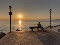 Man & Dog (Luca Enrico Photography) Tags: lazise lagodigarda tramonto sunset omo man cane dog paesaggio landscape lago lake ombre shadows nikon d750
