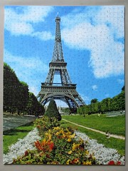 Eiffel Tower (pefkosmad) Tags: jigsaw puzzle hobby pastime leisure wood wooden plywood eiffeltower incompete view building missingpiece secondhand used goldboxwoodenpuzzle mastercraftsman michaelstanfield paris france