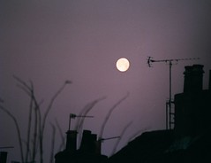 Moon study over rooftops abstract 2 (Street.Watcher) Tags: lincoln clouds lincolnshire sky moon rooftops