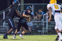"""PVHS v. Palatka-329 (mark.calvin33) Tags: football field sport ball """"high school"""" """"ponte vedra high pvhs block tackle rush run pass catch receiver blocker """"running quarterback fumble completion reception hike pitch snap """"friday night lights"""" fans stands kick """"end zone"""" """"nikon 2018 win athletics athletes """"night photography"""" """"sharks football"""" back d7100"""