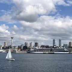 출발! #Seattle #BainbridgeIsland #ferry #port (Seattle Raindrops) Tags: seattle bainbridgeisland ferry port