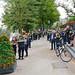 Politie protesteert op de Vijverberg