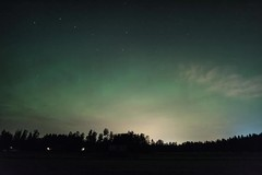 Northern lights vs. the clouds (Jonas Thomén) Tags: auroraborealis northernlights aurora norrsken moln clouds revontulet timelapse video foxfire forest skog night natt