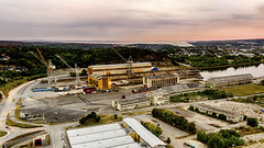 Gamle Fredrikstad Mek (Vidar Kolstad) Tags: dji drone fredrikstad hdr kråkerøy norge norway phantom4 bro østfold fmv mekaniske verksted