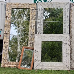 Mirrored Tree (Read2me) Tags: brimfieldantiquesfair pree cye old antique vintage mirrors reflection tree shape rectangle square four thechallengefactorywinner ge friendlychallenges