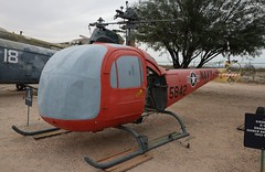 Bell 47K HTL-7 / TH-13N Sioux 145842 in Tucson (J.Comstedt) Tags: aircraft flight aviation air aeroplane museum airplane us usa planes pima space tucson az helicopter bell 47 htl7 th13 sioux navy 145842