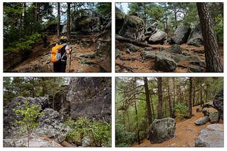 Collage Wanderung zum Kleinhennerstein und den Höhlen - 1