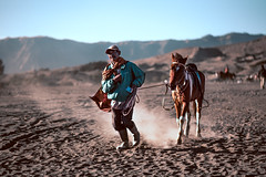 Mont Bromo, Java (Indonesia) (Mathosse) Tags: asiantrip indonesia travel bromo java horse man wild dust color d750 nikon