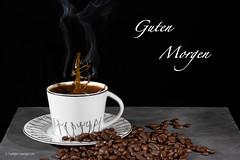 Guten Morgen Kaffe (Ho.Se.69) Tags: kaffee guten morgen tasse kaffeetasse kaffeebohnen tat tropfenauftropfen highspeed highspeedfotografie steellife